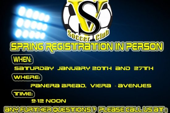 Registration in person January 20th and 27th