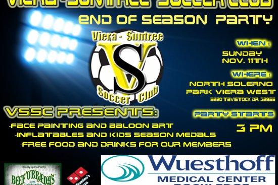 End of Season Party Sunday November 11