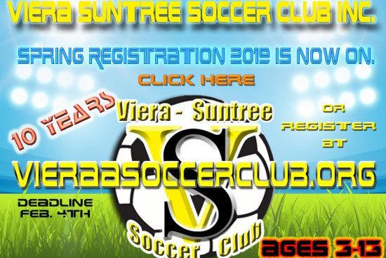 Spring registration opens Nov. 7  – 10 YEARS of Viera Soccer Club Inc.